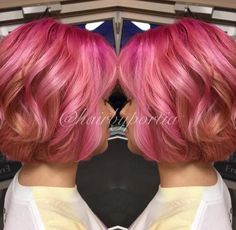short+pink+ombre+hair