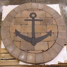 #9013 Anchor Silhouette Concrete Paver Medallion