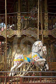 Carousel+Horses   Carousel Horses Royalty Free Stock Images - Image: 12924929