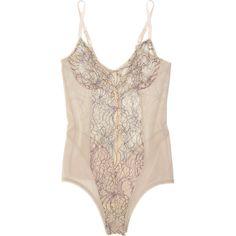 Kiki de Montparnasse Le Fleur lace bodysuit found on Polyvore