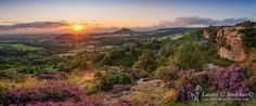 Roseberry Topping Panoramic From Gribdale