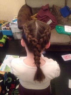 My cousin is a hair stylist and she done this hair style in her niece's hair