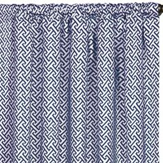 Epic Preppy Chive Navy Curtain Panel Set
