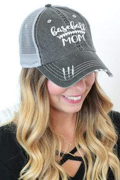 646fcf30a6a Baseball Mom Baseball Cap With Mesh Back In Faded Black Baseball Mom
