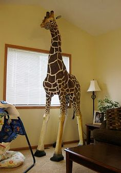 Finished 9-foot Nesse Giraffe