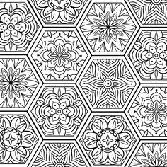 Pattern Coloring Pages, Printable Adult Coloring Pages, Mandala Coloring Pages, Colouring Pages, Doodle Art Posters, Pattern Illustrations, Zen Tangles, Print Ideas, Mandala Art