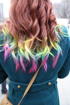 Rainbow Tips - #Hair