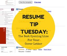 The Best Opening Line For Your Cover Letter | http://bit.ly/1Gr559n