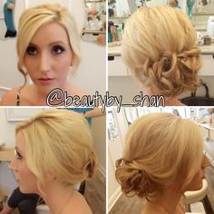Up do. Low updo. Bridal. Prom. Bridesmaid. Makeup.