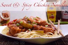 Sweet and Spicy chicken noodles