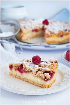 Kruche ciasto z malinami - I Love Bake Food Cakes, Food To Make, Cake Recipes, French Toast, Food And Drink, Sweets, Cooking, Breakfast, Diet