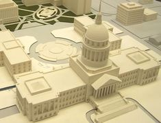 #3d #Printed #Architectural model of White House. Start making your own 3d prototype now at: http://www.mylocal3dprinting.com