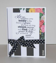 Handmade card by Christine Miller using the New Mercies stamp set from Verve. #vervestamps #faithstamping