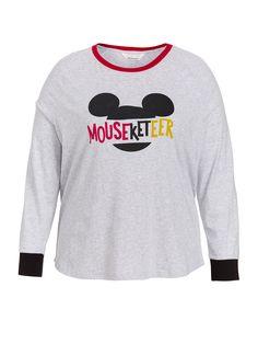 P.A. Plus Mouseketeer Raglan Top | Peter Alexander