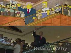 La posibilidad de que Donald Trump se convirtiera en el presidente de Estados Unidos fue imaginada por la serie televisiva de Los Simsons