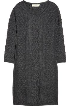 Vanessa Bruno Athé|Cable-knit sweater dress|NET-A-PORTER.COM - a future project , for sure :)))))))
