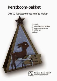 Pakketten om 'kerstboom-kaarten' te maken. Met elk pakket kun je er 10 maken. Er zijn verschillende pakketten leverbaar.
