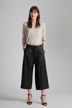 Chicago Faux Leather Culottes
