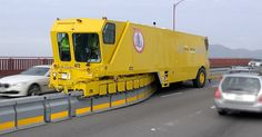 Some closeups of the Barrier Transfer Machine (BTM) repositioning the new Moveable Median Barrier (MMB) on the Golden Gate Bridge at the tail end of its Thur. Les Inventions, Solar Powered Cars, Innovation, Circulation, Heavy Machinery, Rush Hour, Applied Science, Morning Running, Self Driving