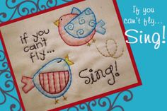 "Download ""Sing"" - Stitchery Pattern Sewing Pattern 