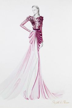 Ralph Russo's Couture Preparations #illustrated #fashion #illustrations