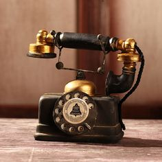 Vintage Decorative Rotary Telephone Statue Antique Cord Old Phone Model Figurine | Home & Garden, Home Décor, Figurines | eBay!