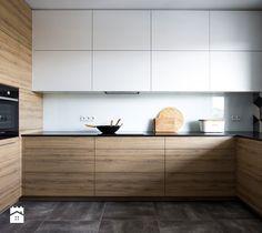 MIESZKANIE OSIEDLE LEŚNE - Średnia otwarta zamknięta kuchnia w kształcie litery u, styl nowoczesny - zdjęcie od Bekier Studio