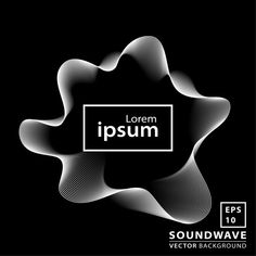 Abstract Sound Wave Background Premium Vector
