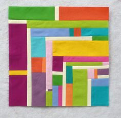 """Simply Solids Falu Feb"" block by Linda Nussbaum. I could see this as 1/4 of a stunning asymmetrical block. Lovely!"