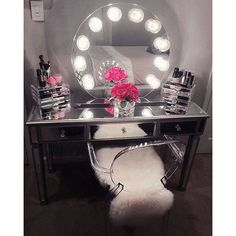 diy hollywood makeup vanity light mirror with click remote. Black Bedroom Furniture Sets. Home Design Ideas