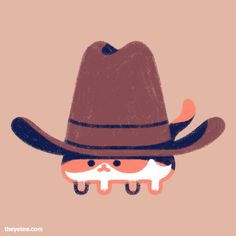 Original Cowboy from The Yetee Cute Drawings, Animal Drawings, Character Art, Character Design, Young Lad, Matou, Dibujos Cute, Cute Doodles, Aesthetic Art