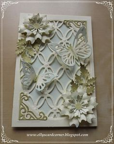 Elly's Card- Corner: Flowers and Butterflies....