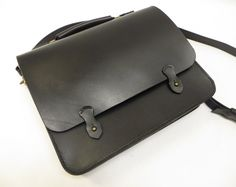 Leather Briefcase/ Leather Satchel/ Leather Messenger Bag/ Full Grain Leather
