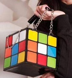 Bolsa De Dama Cubo Rubick Moda Japonesa