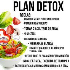 Aquí les dejo los Dia 1 , 2 y 3 del plan Detox para aprender a llevar una vida saludable lo importante es seguir las formulas para saber las porciones leer el post de esta mañana con la panqueca HULK , allí les hablo en detallado de las porciones de las mujeres y hombres. Desde mañana les daré recetas y plan de ejercicio :  DÍA 1⃣, 2⃣ y 3⃣  Comida 1⃣ 8oz de agua tibia con limón  Jugo verde : 3 vegetales verdes  1 fruta  Comida 2⃣ Proteina + Carb complejo + vegetales + grasa Buena  Media…