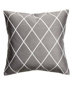 Jakardikudottu tyynynpäällinen   Harmaa   Home   H&M FI