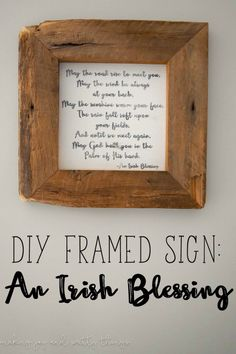 DIY Irish Blessing F