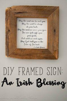 DIY Irish Blessing F