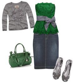 Love the green & grey