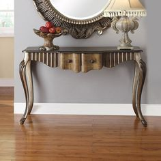 Acme Bayley Bronze Taupe Console Table With Drawers - Live Edge Console Table, Dining Room Sideboard, Modern Console Tables, Home Furniture Online, Luxury Home Furniture, Diy Furniture Redo, Table Furniture, Rustic Furniture, Antique Furniture