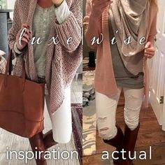 #wiw #pinterest edition. I am not suggesting that you try to dress EXACTLY like all of your pins, BUT take note of the things that inspire you most from the ensembles. I love this color palette, so it was easy for me to recreate a similar look with items from my #wardrobe !!! Do you pay attention to your pins? If you can't make sense of it all, you can always hire us to help. #inspiration #fashion #luxewise #pinspiration #distresseddenim #winter #ootd #whitejeans #instablogger #instafashion