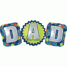 Dad 37 ' Anagram Balloon Fathers Day DecorationBalloonShow dad a lot of love and recognition with a Giant Dad Balloon. This durable foil balloon has three connected balloons that spell out  ' ' ' 'Dad. ' ' ' ' The huge Father's Day balloon features a multicolor hexagonal-pattern background. Use a Giant Dad Balloon as a stand-alone decoration or add matching green and blue latex balloons for a larger display for your dad's big day!Retail Packing ViewQUALITY PRODUCTS ALWAYSOUR PRODUCTS…