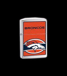 24607 - Denver Broncos NFL High Polish Chrome Zippo® Lighter