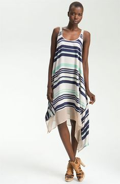 Elizabeth and James 'Adrienne' Striped Silk Dress available at #Nordstrom