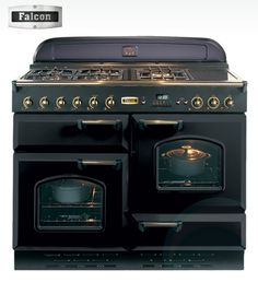 No, wait... this one! AGA reminiscent, Falcon gas oven with brass accents. Lovely.