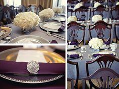 purple blue centerpieces for wedding | Purple & Gray Seattle Wedding - Every Last Detail