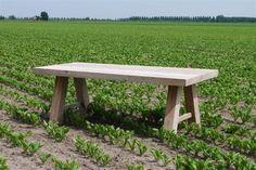Steigerhout tafel Sanne geheel in verstek