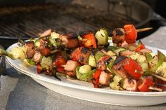 """Spicy Spam Kabobs on BigOven: Try this Spicy Spam Kabobs recipe, or contribute your own. """"Meats"""" and """"Main dishes"""" are two of the tags cooks chose for Spicy Spam Kabobs. Spam Recipes, Kabob Recipes, Kabobs, Skewers, Fire Cooking, Gluten Free Rice, Main Dishes, Spicy, Favorite Recipes"""