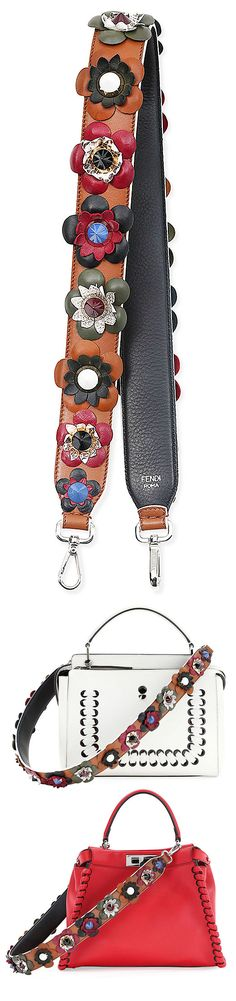 "The next ""IT"" accessory trend - Fendi floral stud guitar strap"