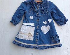 little denim dress 12 months baby guess shabby by kateblossom